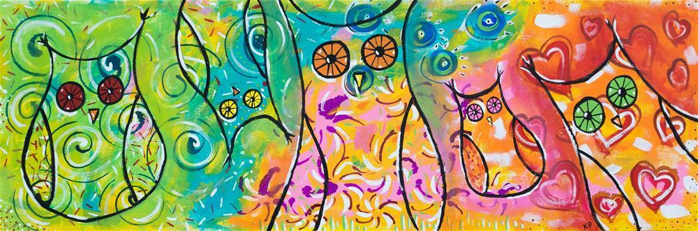"""""""Hoooooo's There?"""" original fine art by Kali Parsons"""