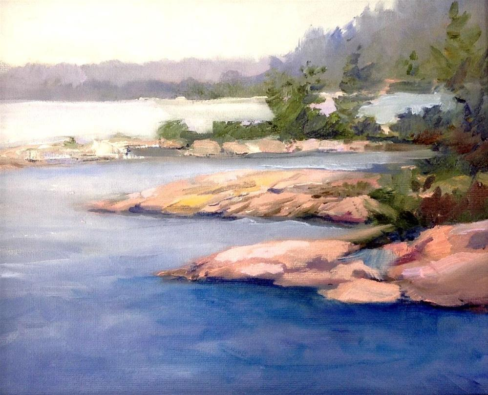 """Georgian Bay Stepping Stones"" original fine art by Cathy Boyd"