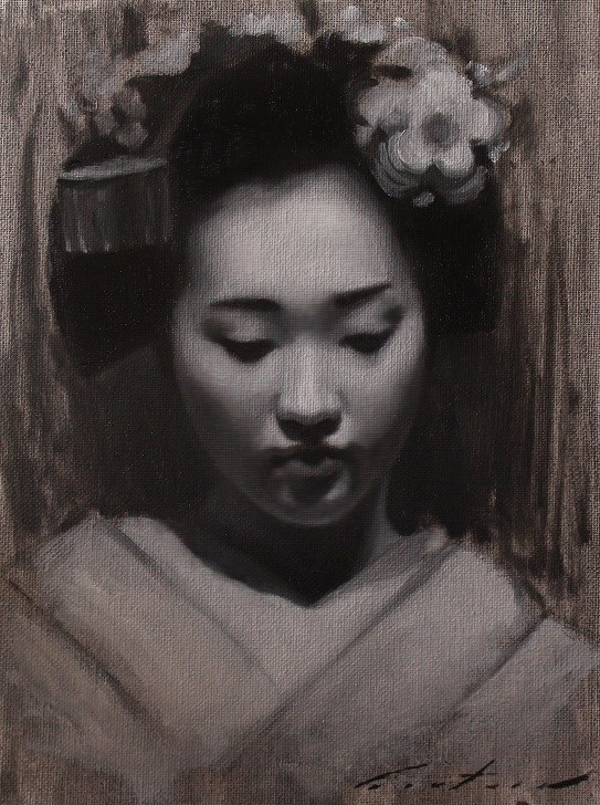 """Maiko Chizu"" original fine art by Phil Couture"