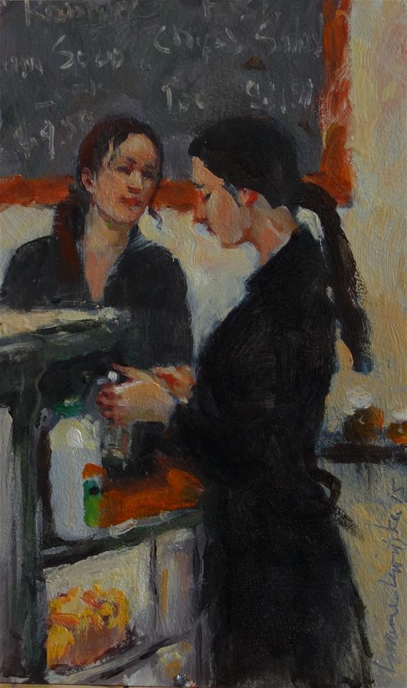 """Chatty"" original fine art by Lorraine Lewitzka"