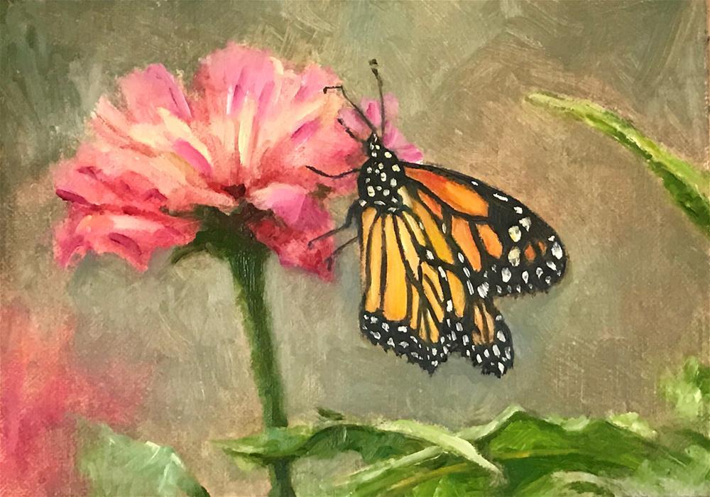 """Monarch Beauty"" original fine art by Vana Meyers"