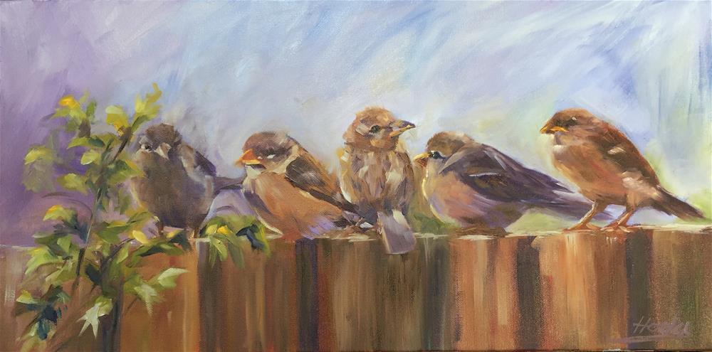 """The Morning Meeting"" original fine art by Hoda Nicholas"
