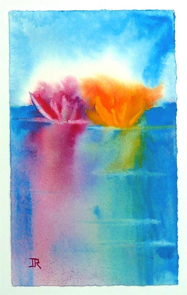 """Water Lilies 1"" original fine art by June Rollins"