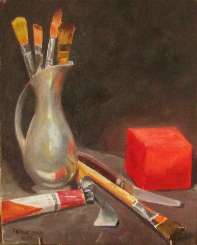 """Ready to Work"" original fine art by Christine Lewis"