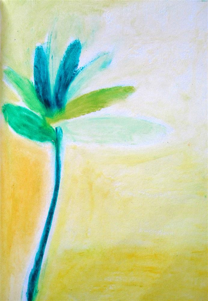"""Flower Leaf"" original fine art by Adéla Svobodová"