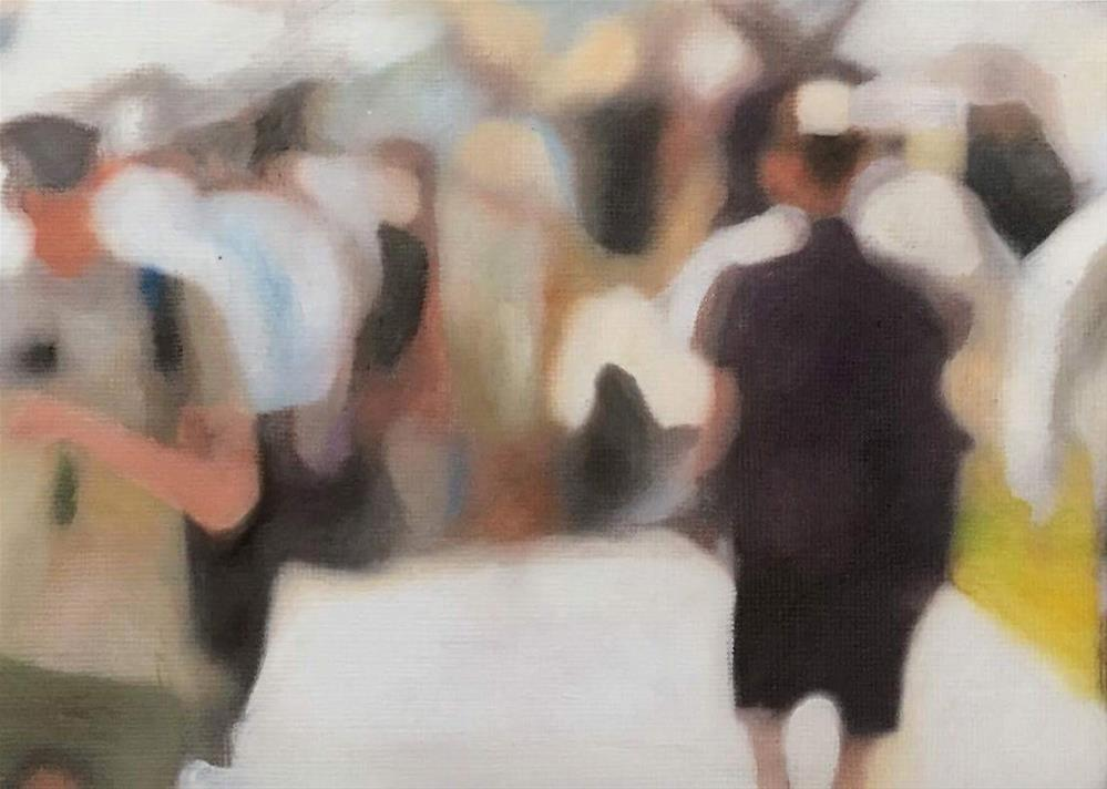 """Afternoon Stroll"" original fine art by John Cameron"