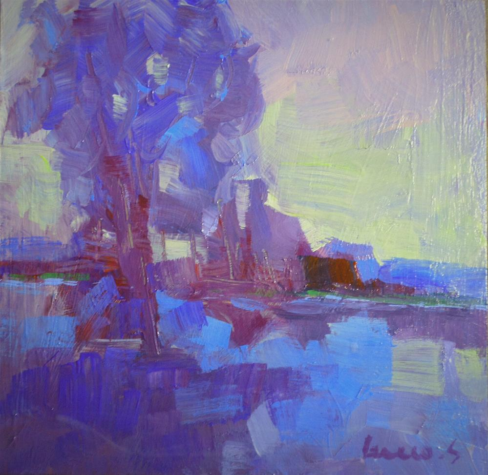 """Blue harmony"" original fine art by salvatore greco"