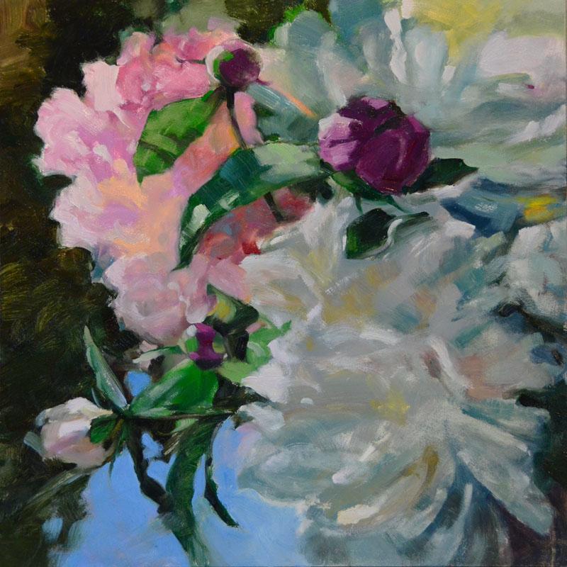 """""""Coral Caper"""" original fine art by Jennifer Evenhus"""
