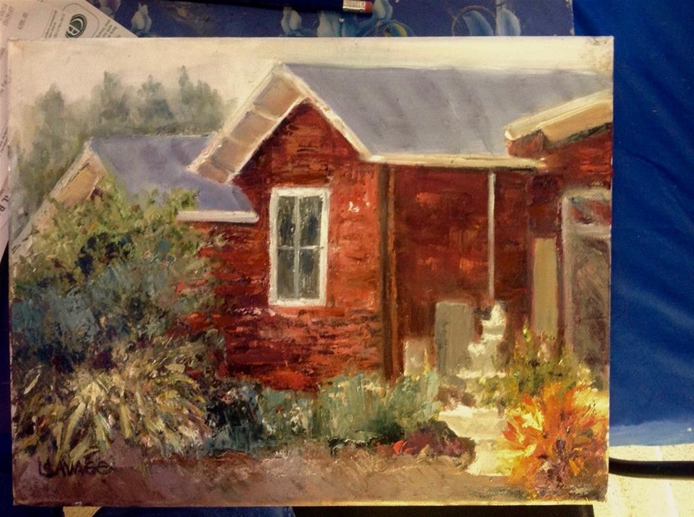 """The Old Homestead"" original fine art by Judy Usavage"