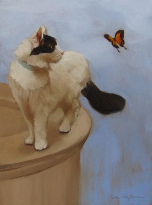 """""""The Messenger"""" original fine art by Diane Hoeptner"""