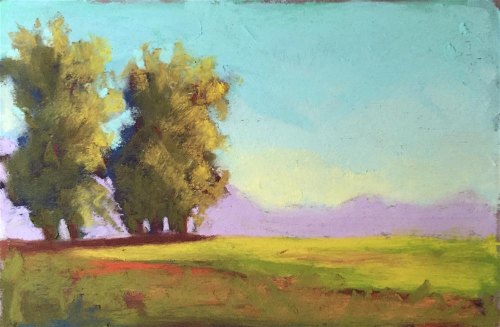 """Sunset Trees 2"" original fine art by Sandi Miller"