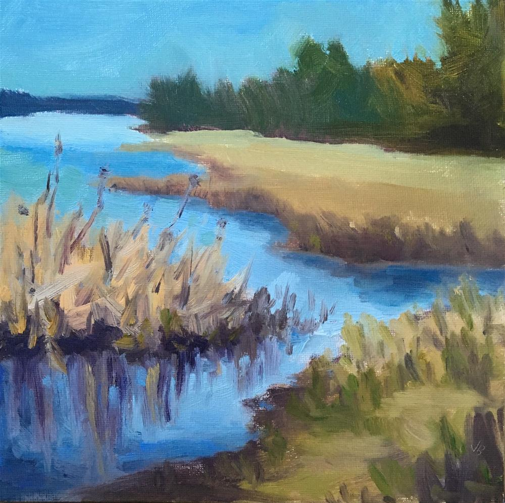 """Winter Wetlands ll"" original fine art by Victoria  Biedron"