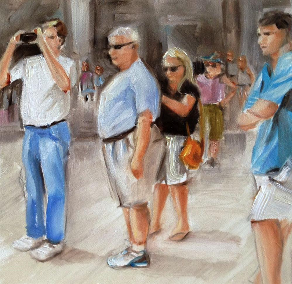 """People Watching People"" original fine art by Beth Moreau"
