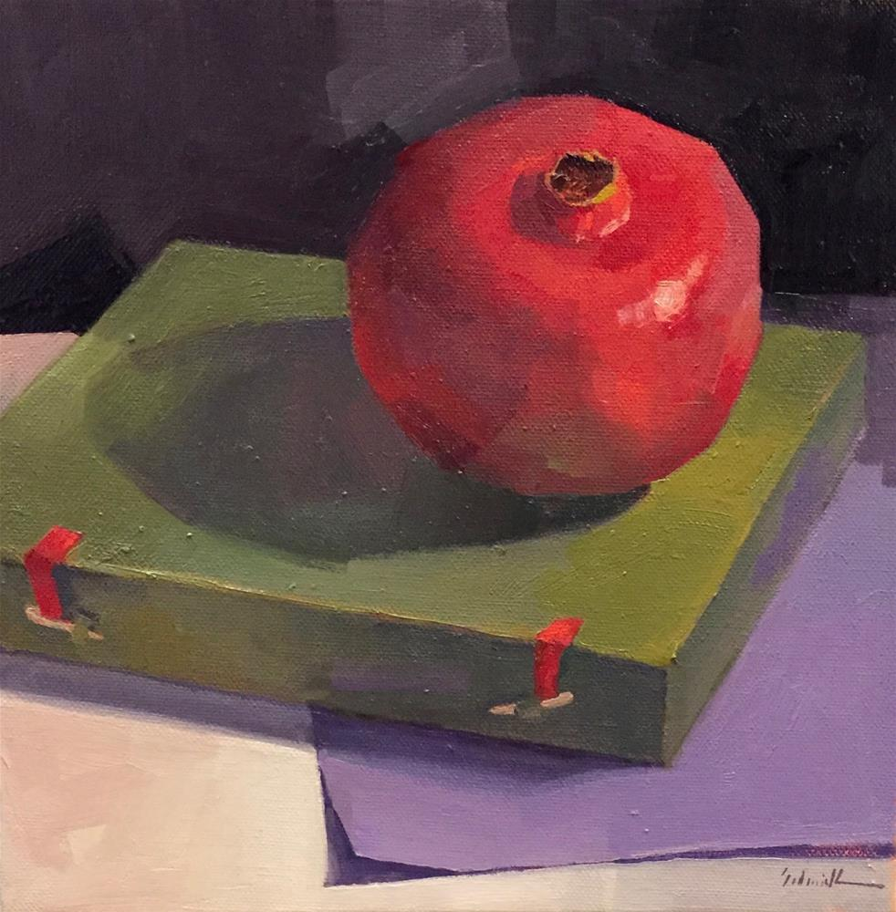 """Dark Pomegranate"" original fine art by Sarah Sedwick"