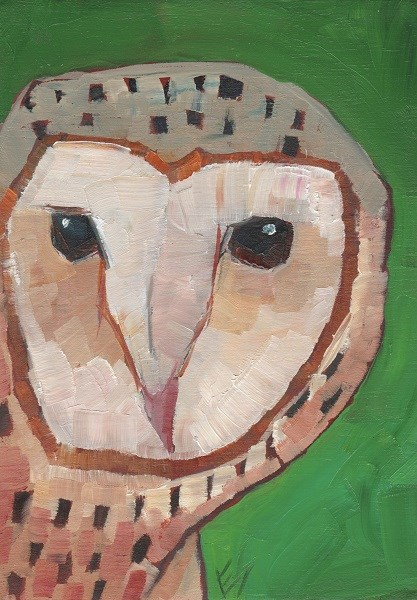 """Barn Owl"" original fine art by Elizabeth See"