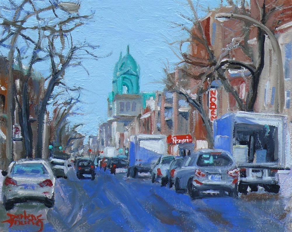 """596 Montreal Petite-Patrie"" original fine art by Darlene Young"