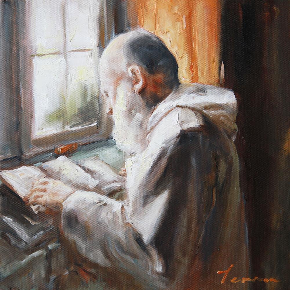 """""""Scripture"""" original fine art by Teresa Yoo"""