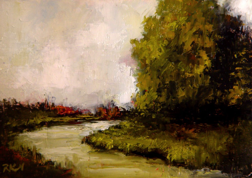 """The Tree by the River"" original fine art by Bob Kimball"