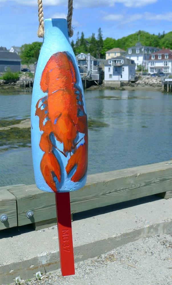 """""""A Decorative Lobster Buoy"""" original fine art by Bobbi Heath"""