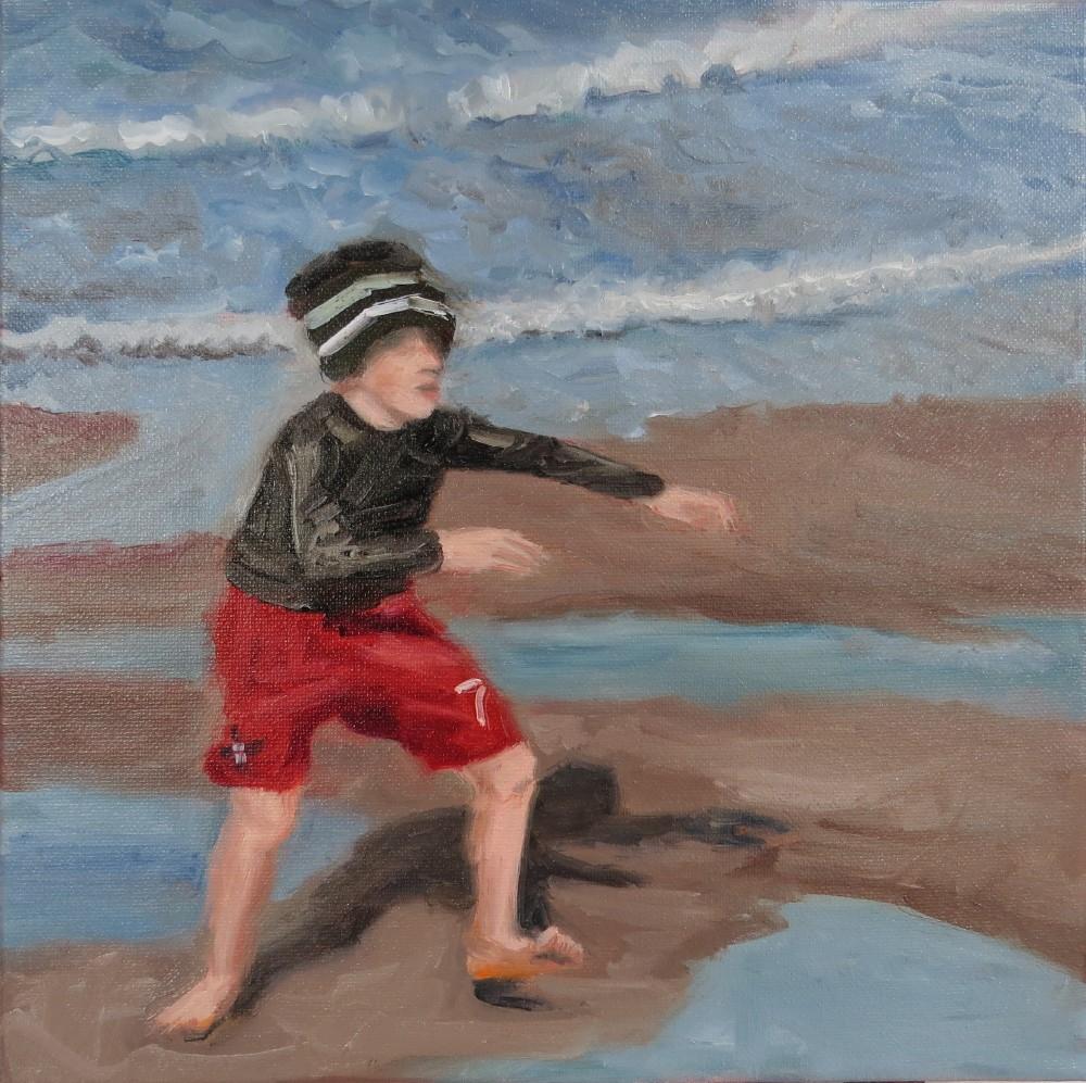 """Puddle Jumper"" original fine art by Richard Kiehn"