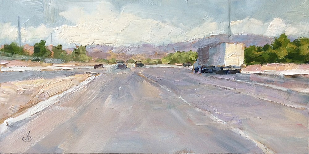 """THE LURE OF THE OPEN ROAD"" original fine art by Tom Brown"