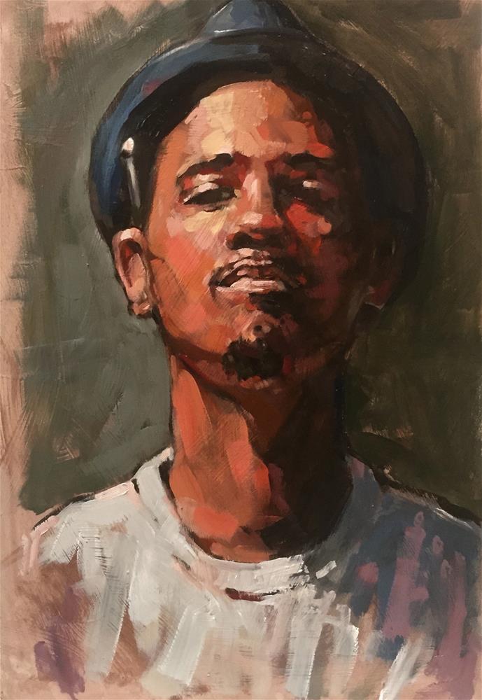"""Bryan"" original fine art by Chris Long"