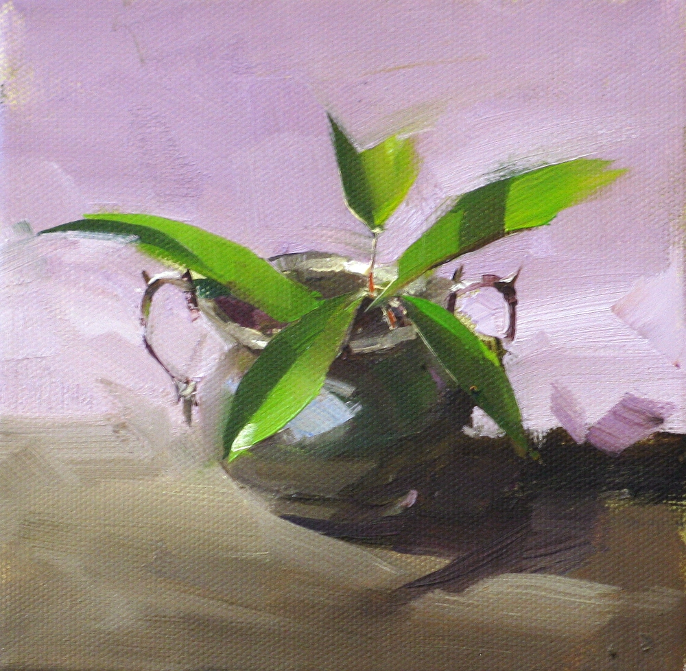 """Spring in a Pot"" original fine art by Qiang Huang"