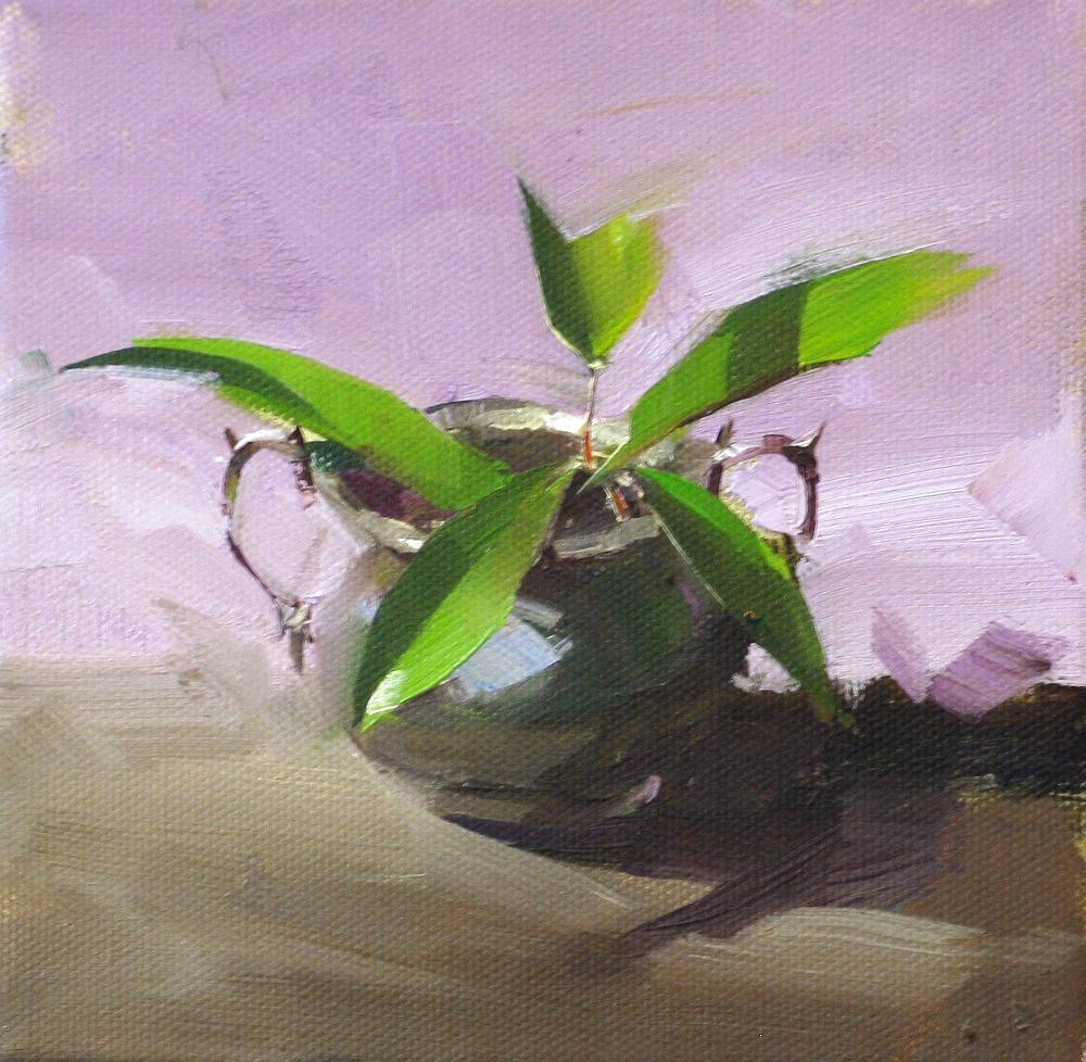 """Spring in a Pot"" original fine art by Qiang Huang"