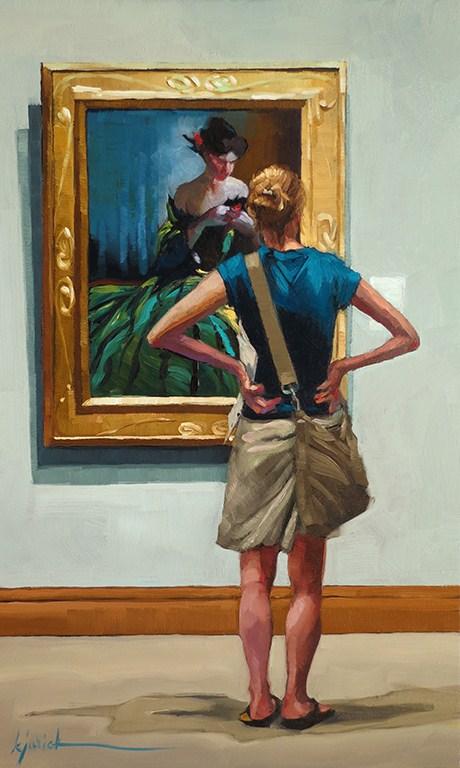 """Green With Envy"" original fine art by Karin Jurick"