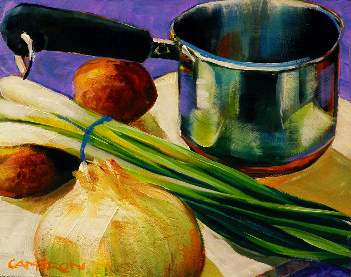 """POTATO SOUP"" original fine art by Brian Cameron"