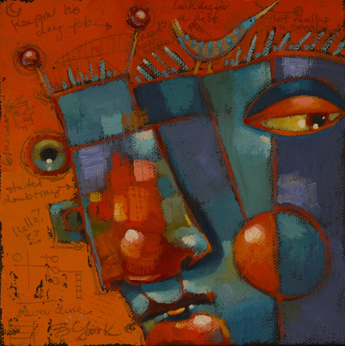 """Head Trip"" original fine art by Brenda York"