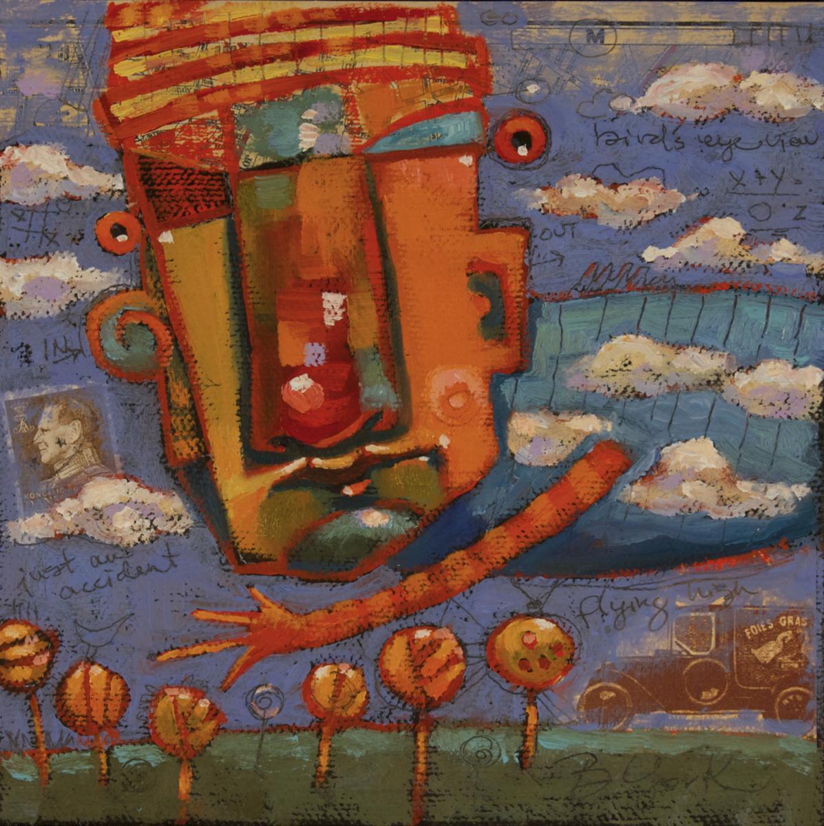 """""""Head In The Clouds"""" original fine art by Brenda York"""