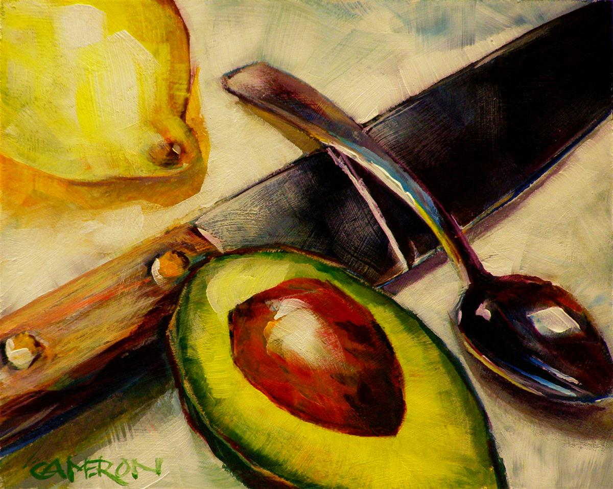 """AVOCADO CUT"" original fine art by Brian Cameron"