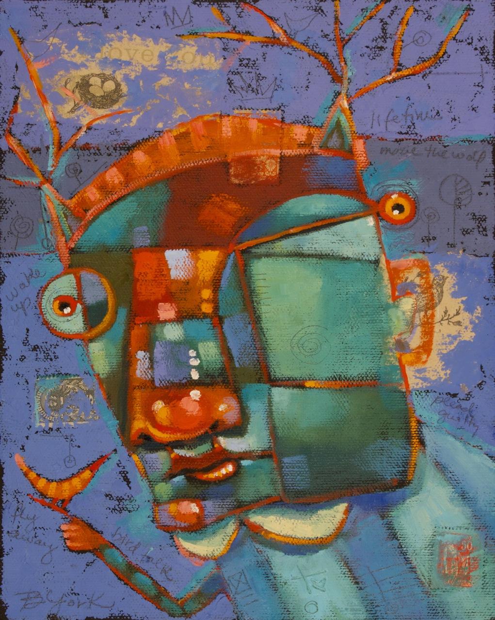 """Richard Surrenders (To The Wild Life)"" original fine art by Brenda York"