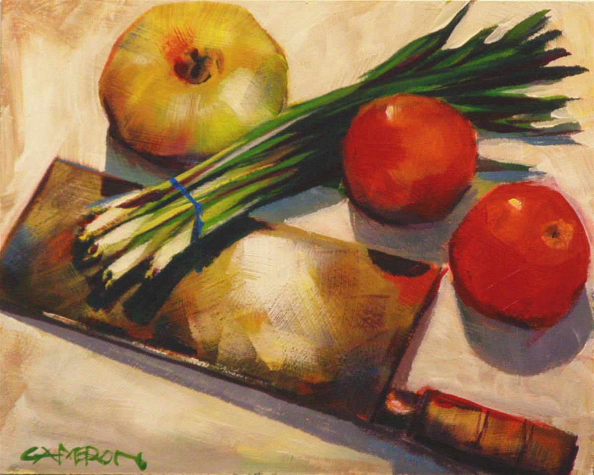 """ONIONS AND TOMATOS"" original fine art by Brian Cameron"