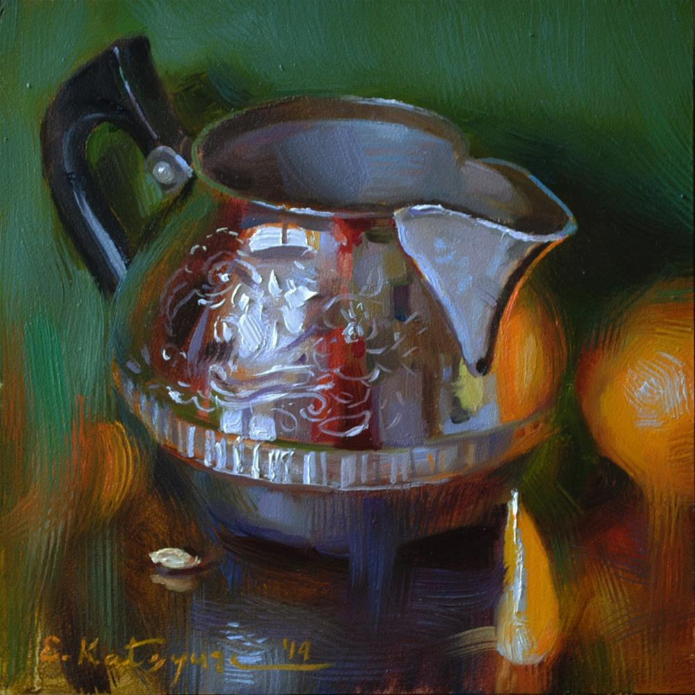 """Creamer and Citrus"" original fine art by Elena Katsyura"