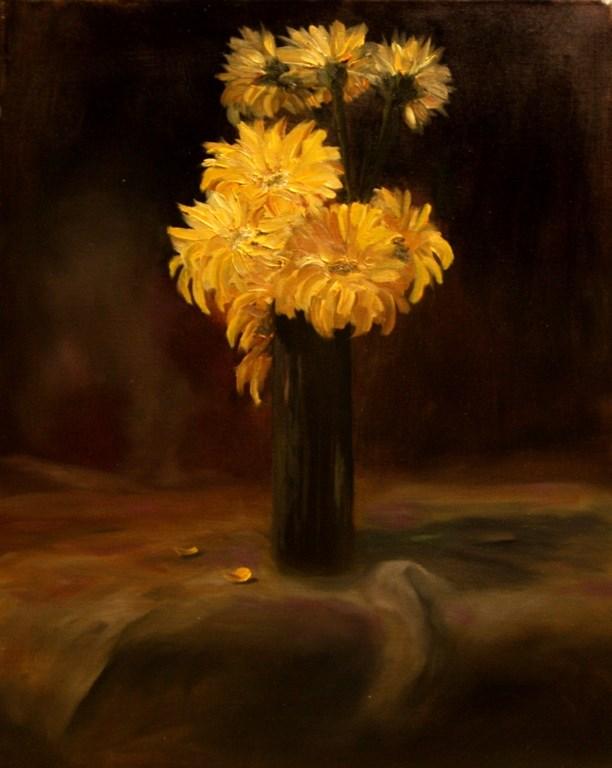 """Yellow Flowers"" original fine art by Mary Datum"