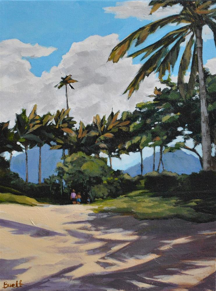 """Leaving Kailua Beach"" original fine art by Shari Buelt"