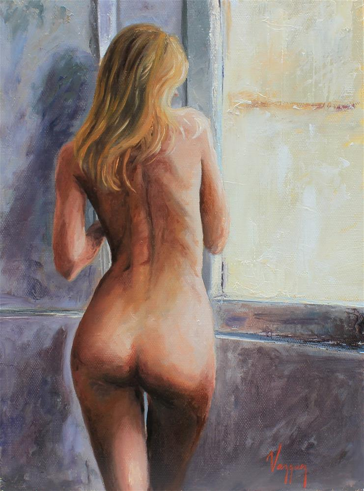 """Nude By the window"" original fine art by Marco Vazquez"