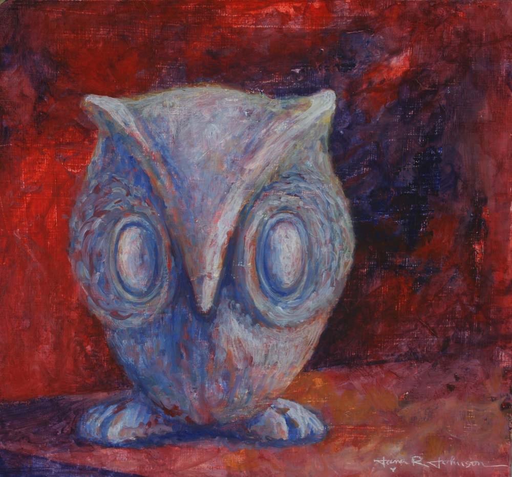 """Little Owl"" original fine art by Jana Johnson"