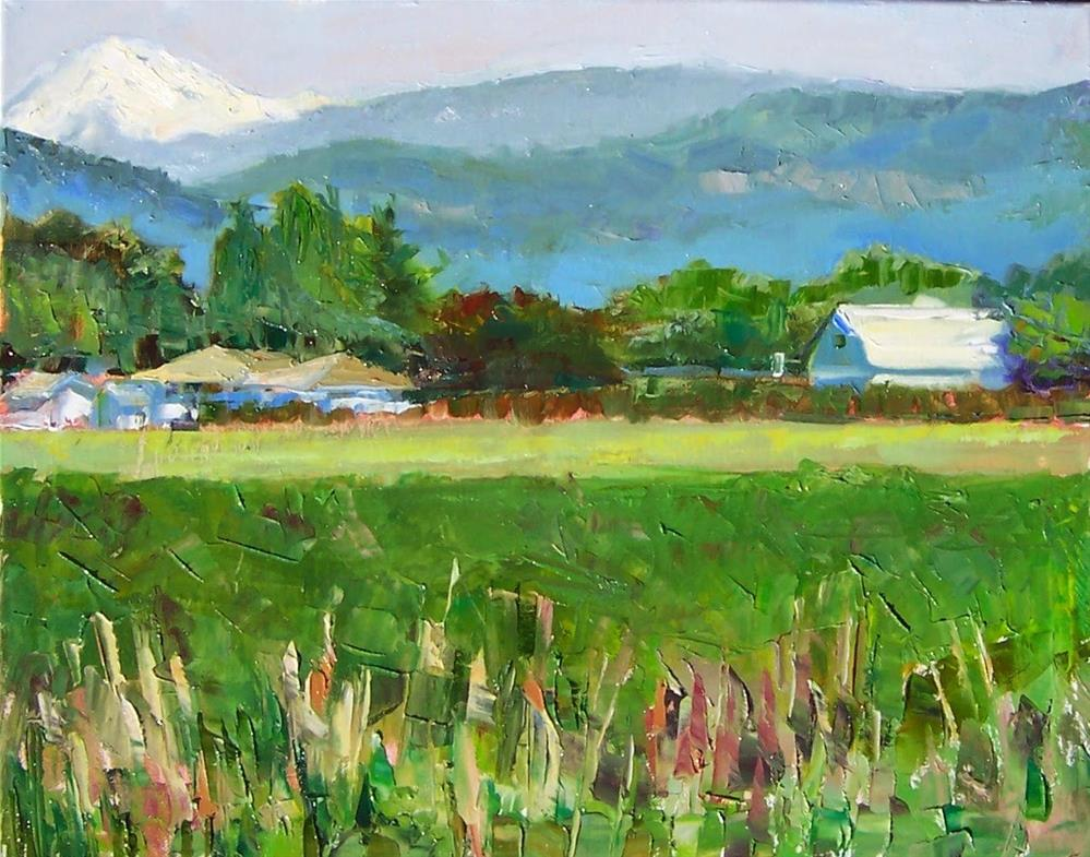 """Mt Baker View,landscape,oil on canvas,16x20,priceNFS"" original fine art by Joy Olney"