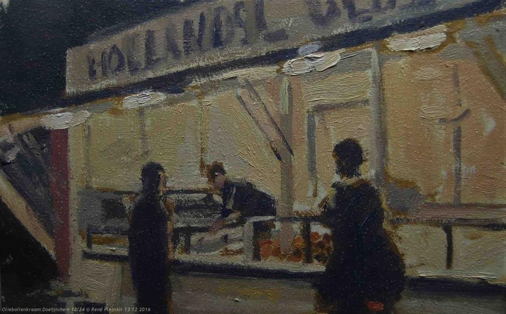 """Oliebollen!! Doetinchem, The Netherlands"" original fine art by René PleinAir"