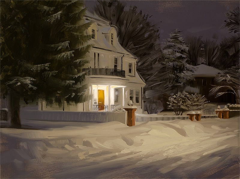 """Snowed In"" original fine art by Rob  Rey"