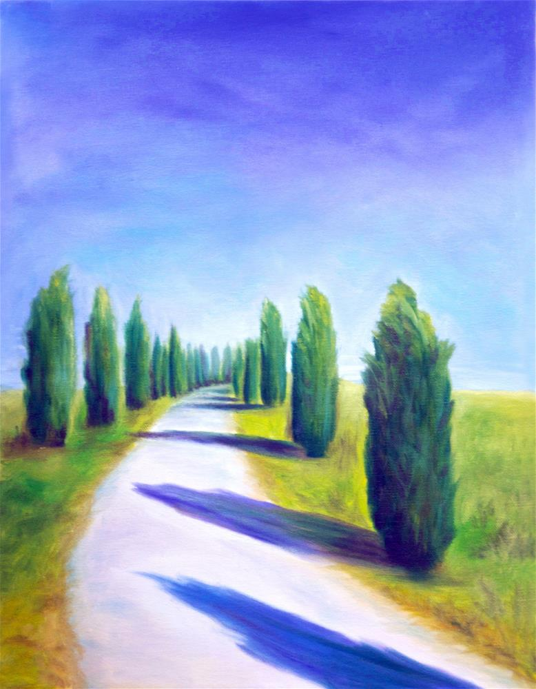 """Tuscan Tree Curve"" original fine art by Susan Bertocci"