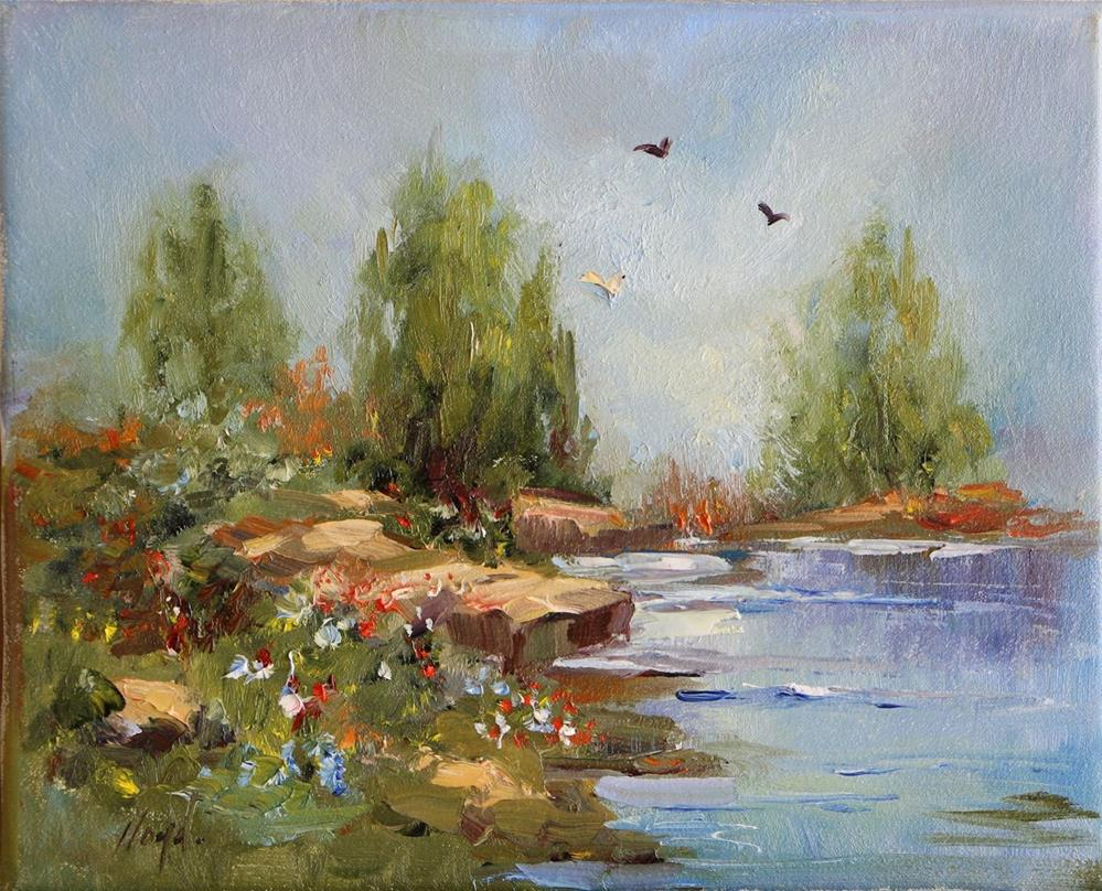 """River's Edge"" original fine art by Diane Lloyd"