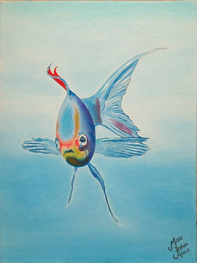 """Fish 1"" original fine art by Mary Sylvia Hines"