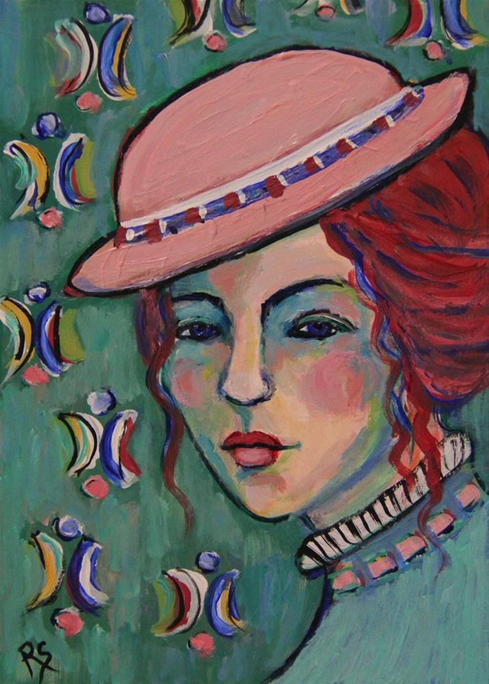 """Le Chapeau Rose"" original fine art by Roberta Schmidt"