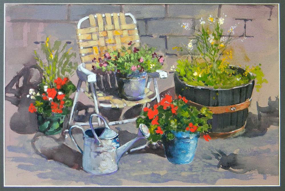 """""""Summer Yard in KY"""" original fine art by De Selby"""