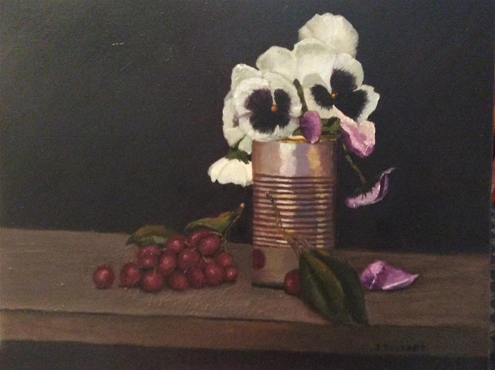 """Pansies"" original fine art by Jeanne Bossart"
