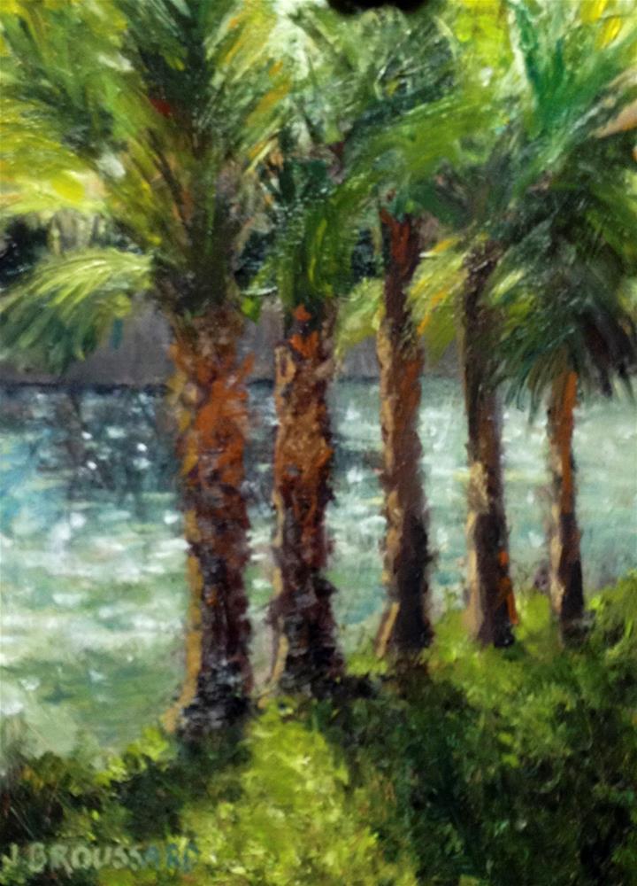 """""""Riverwalk"""" original fine art by Janet Broussard"""